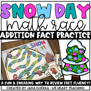 Snow Day! Addition Race Game