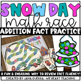 Snow Day! Addition Race Game Freebie