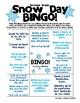 Snow Day Bingo - Pre-K, Kindergarten, 1st, 2nd, 3rd, & 4th Grade - Academic CCSS
