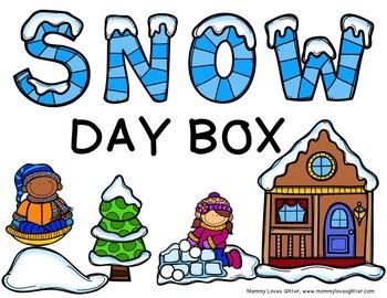Snow Day Box Label FREEBIE
