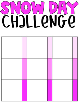 Snow Day Challenge Boards