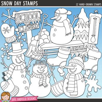 Snow Day Winter Clip Art