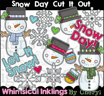 Snow Day Cut It Out Clipart Collection