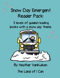 Snow Day Emergent Reader Pack