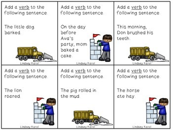 Snow Day  Expand-A-Sentence Activity for Nouns, Verbs, Adjectives, and Adverbs