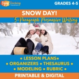 Snow Day: Writing a Five-Paragraph Persuasive Essay