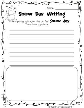 Snow Day Freebie