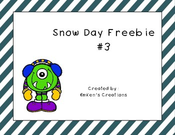 Snow Day Freebie #3