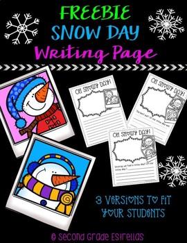 Snow Day Freebie Writing Page