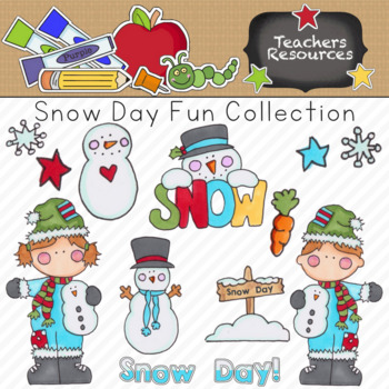 Snow Day Fun Clipart Collection || Commercial Use Allowed