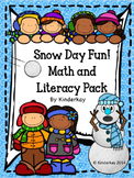 Snow Day Fun Literacy, Math, and Craftivity Pack