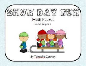 Snow Day Fun Math Packet
