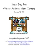 Snow Day Fun Winter Addition Math Centers (Sums of 0 to 10)