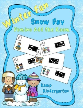 Snow Day Fun Winter Domino Add the Room (Sums of 0 to 10)