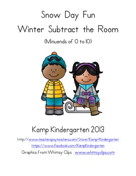 Snow Day Fun Winter Subtract the Room (Minuends to 10)