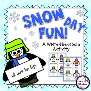 Penguin Write the Room Literacy Activity