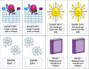 Fry Sight Words: Kindergarten (Snow Day)