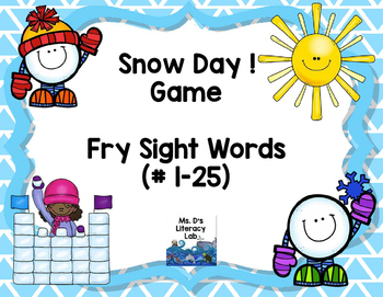 Fry Sight Words--(Snow Day)