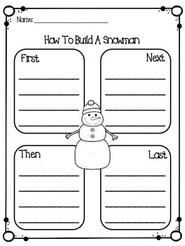 Snow Day Graphic Organizers
