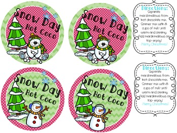 Snow Day Hot Coco Labels