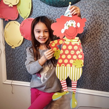 Snow Day, Indoor Recess Circus Theme circus friendly clown craft activity
