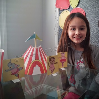 Snow Day, Indoor Recess Circus Theme circus tent ballerinas craft activity
