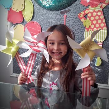 Snow Day, Indoor Recess Circus Theme paper pinwheels craft activities