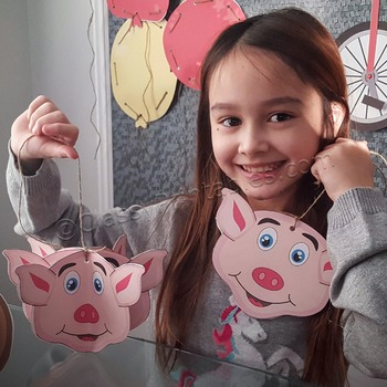 Snow Day, Indoor Recess Circus Theme pig ornaments craft activities