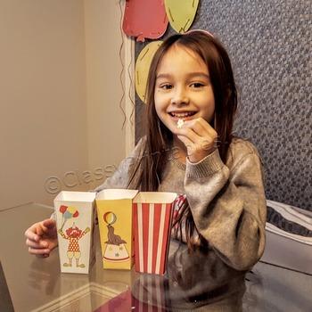 Snow Day, Indoor Recess Circus Theme popcorn/treat bags craft activities