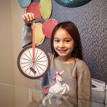 Snow Day, Indoor Recess Circus Theme unicycle paper craft