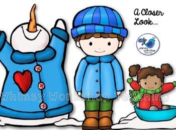 Snow Day Kids Clip Art