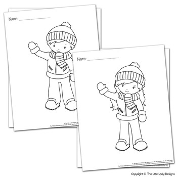 Snow Day Kids Coloring Pages By Everyoul Studio Tpt
