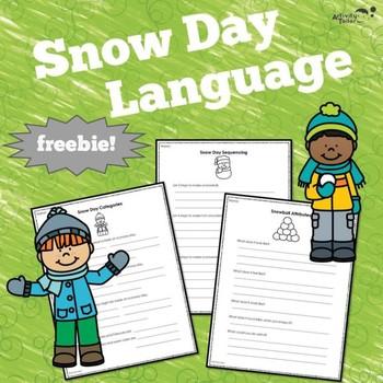 Snow Day Language Fun FREEBIE!