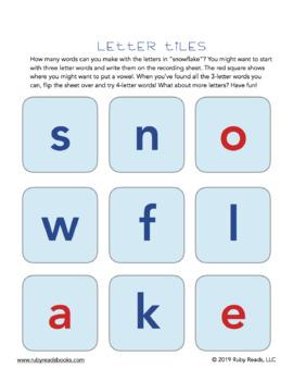 Snow Day Letter Tiles