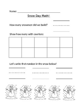 Snow Day Math, Numbers 5-9