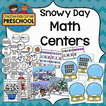 Snow Day Math Centers and More