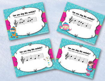 Snow Day Melodies!  An Interactive Melodic Game BUNDLE! 4 GAMES!