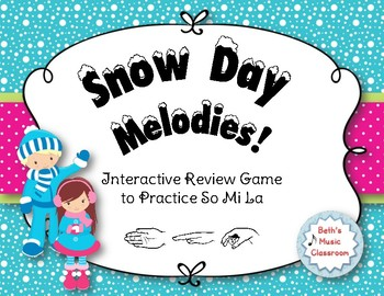 Snow Day Melodies! An Interactive Melodic Game to Practice So Mi La