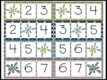 Snow Day Missing Number Freebie