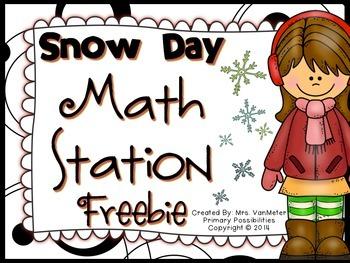 Snow Day Missing Number Freebie