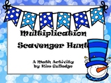 Snow Day Multiplication Scavenger Hunt - 4.NBT.5 - Around the Room