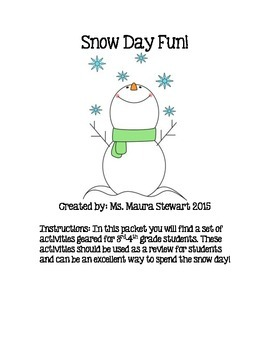 Snow Day Pack FREEBIE