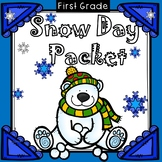 Snow Day Packet 10 DAYS First Grade Distance Learning