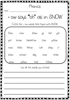 Snow Day Poem and Activities
