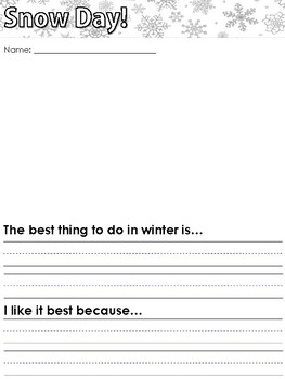 Snow Day Predictions Worksheets