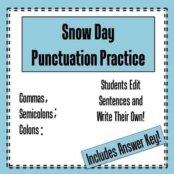 Commas Semicolons And Colons Worksheets Teaching