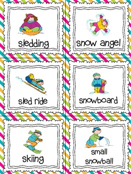 Snow Day! Read, Write, and Count the Room {Literacy and Math Center} {CCSS}