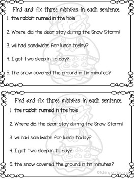 Snow Day Review Book