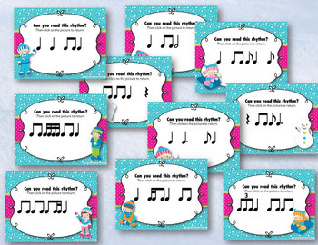 Snow Day Rhythms! An Interactive Rhythm Game BUNDLE - 10 GAMES!