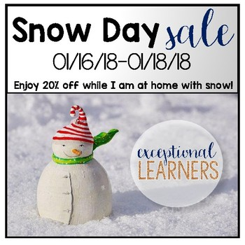 Snow Day Sale- 20% OFF